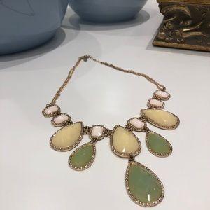 Pastel stones a cubic statement necklace